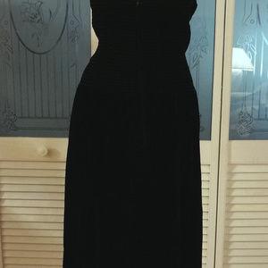 47f328cab Vintage Dresses - Positively Ellyn Rhinestone Velvet Bustier Dress